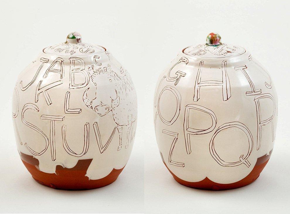 Ayumi-Horie-warthog-alphabet-jar